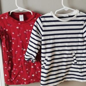 Two Old Navy sweatshirt tunics